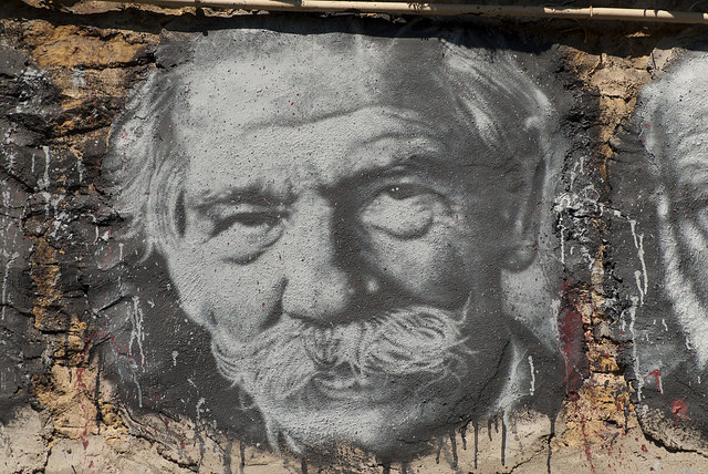 Albert Schweitzer, painted portrait