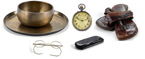 gandhi's belongings